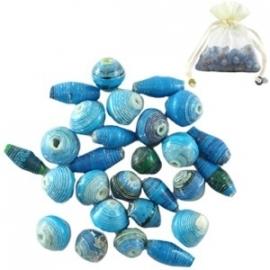 BeadforLife kralen kleurenmix blauw