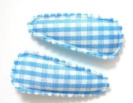 Kniphoesje baby ruitjes blauw (09KN00010)