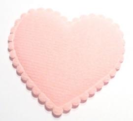 Vilt hart XL roze (09AP00098)