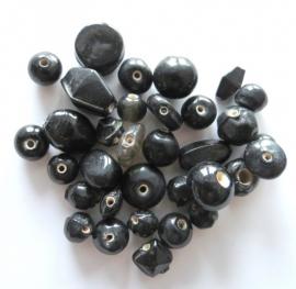Kralenmix zwart 25 gram (08K000483)
