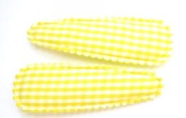 Kniphoesje ruitjes geel 5 cm