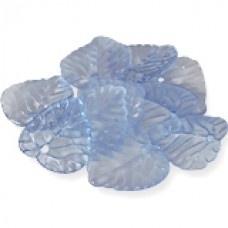 Blauwe transparante blaadjes