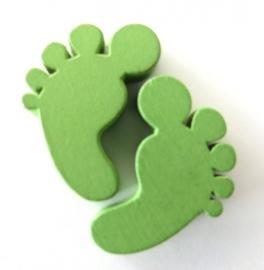 Houten voetjes groen