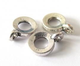 Metalen kraal met hangeroog groot gat (13K000837)