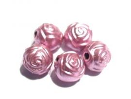 Acryl roosje roze 8 mm (08K000499)