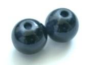 Glaskraal zwart 8 mm (per 10 stk) (06K000175)