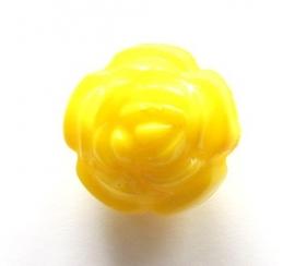 Acryl roos geel 16 mm (09K000660)