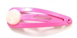 Haarknipje baby met plakschijf roze (09X000298)