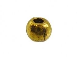 Metalen kraal goudkleurig 3 mm (13K000846)