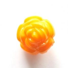 Acryl roos oranje 16 mm (09K000657)