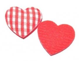 Geruit hartje rood (10AP00195)