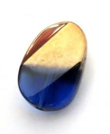Glaskraal Goud/Blauw 20 mm (13004)