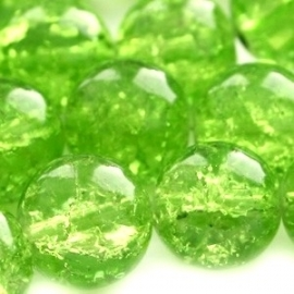 Crackle beads lime (06K000084) 10 stuks