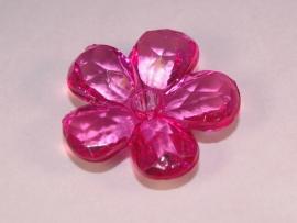 Roze bloemkraal (14K002)