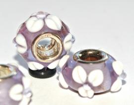 Pandorastyle kraal met sterling zilveren (925) setting
