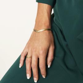 Mooie roestvrij stalen v-vormige armband