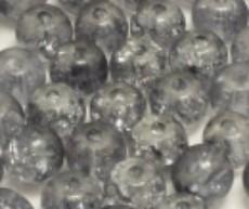 Crackle beads grijs (06K000253) 10 stuks