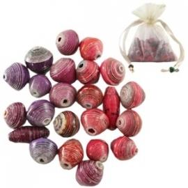 BeadforLive kralen kleurenmix paars/roze