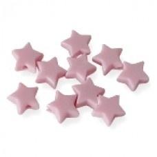 Roze sterretjes mat klein 10 stuks