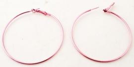 Metalen oorringen Roze