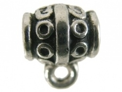 Metalen kraal bewerkt met hangeroog groot gat (1377791)