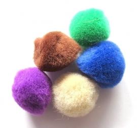 Pompoentjes in 5 kleuren