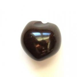 Acryl kraal donker bruin 25 mm