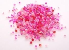 Rocaillemix roze staafjes10 gram (06K000493)