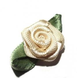 Satijn roosje beige (10AP00187)
