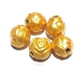 Acryl roosje goud 8 mm (06K000498)