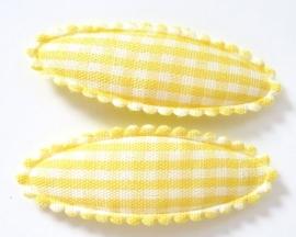 Kniphoesje kids ovaal met gele ruitjes (09KN000103)