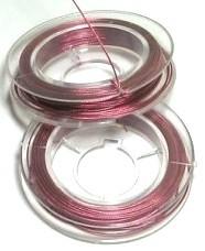 Gecoat staaldraad oud roze
