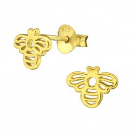 Gold plated sterling zilveren oorknopjes bij