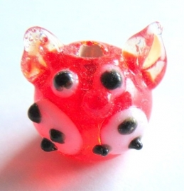 Glaskraal poes rood (08K000533)