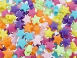 Mix kunststof kraaltjes sterretjes 25 stuks