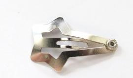 Haarknipje baby zilverkleurig met ster (10KN000152)