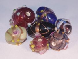 mix Turkse lampworkkralen (21 gram - 7 stuks) 14G002