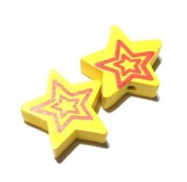 Ster hout geel (10K000728)