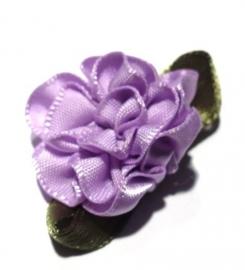 Applicatie bloem satijn rozet lila (10AP00220)