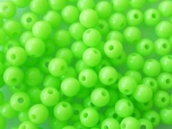 Kunststof rond fluor groen 6 mm 25 stuks (13K000831)