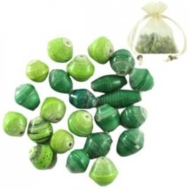 BeadforLife kralen kleurenmix groen