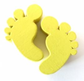 Houten voetjes Geel
