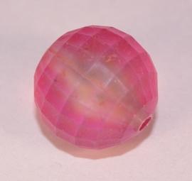 Roze facetkraal 15 mm (14K010)