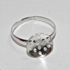 Metalen dunne ring met geperforeerd, hol plakvlak van 11 mm