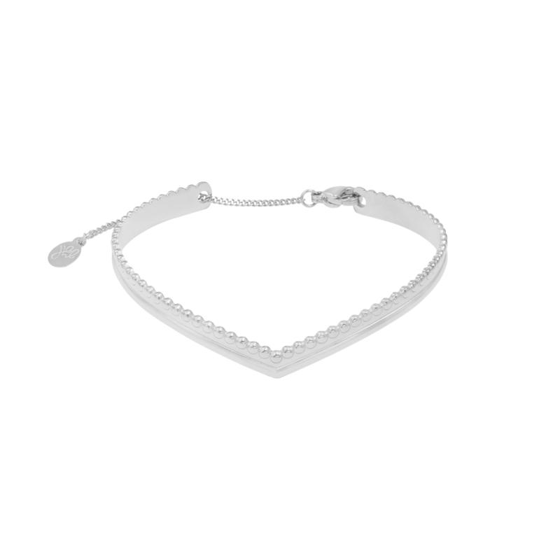 Roestvrijstalen V-vormige armband
