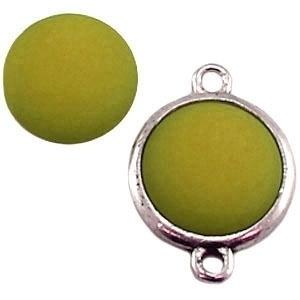 Cabochon Polaris mat olijf groen 12 mm (11589)