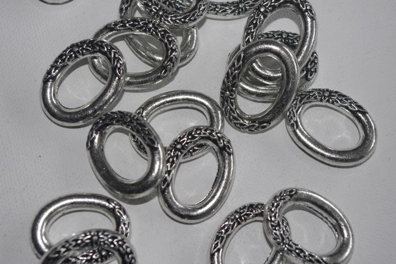 Super grote partij metallook ringen met bloemmotief