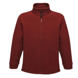 Fleecejas bordeaux rood