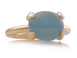 Catch ring met Aquamarijn
