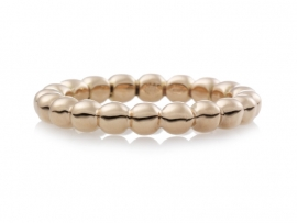 Bubbel Stax gouden ring (3.5 mm).